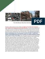 The 2013 Boston Marathon Bombings
