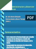 Vías de administración y absorción de fármacos