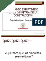 MERCADEO ESTRATÉGICOEN LA INDUSTRIA DE LA CONSTRUCCIÓN 2012-09
