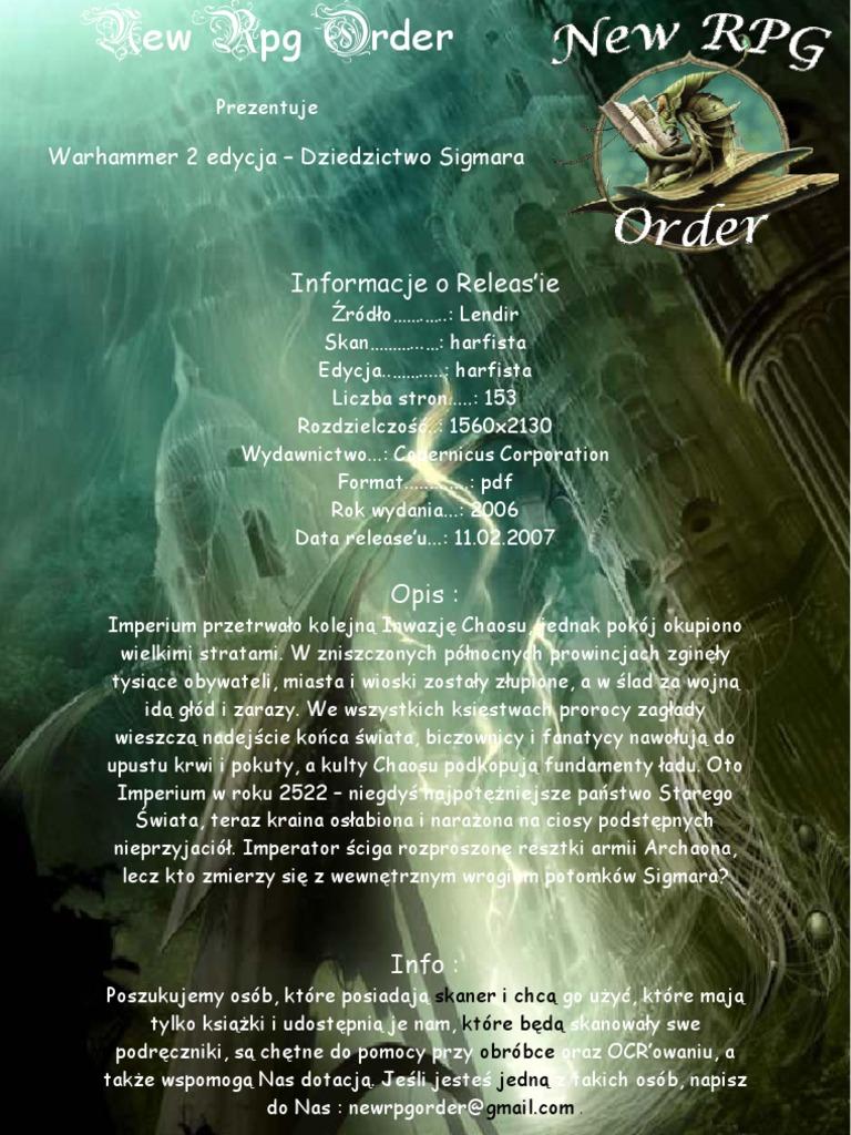 podręcznik warhammer 2ed
