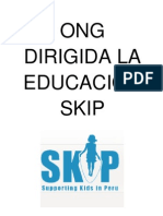 ONG  DIRIGIDA LA  EDUCACIÓN SKIP