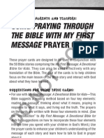 Praying Through the Bible With My First Message