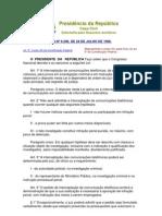 LEI Nº 9.296, DE 24 DE JULHO DE 1996 - Versão Compilada 24.07.2012