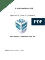 Instalación de Virtual Box