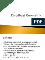 Distribusi Geometrik