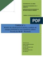 TAREA 2 Modelo de cálculo para el diseño y análisis de ensayos hidráulicos con trazadores salinos
