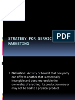 Strategy for Service Marketing