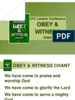 CFC Leaders Conference OBEY WITNESS Chant