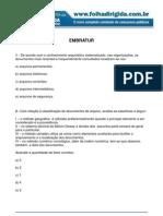 folha dirigida - questões arquivologia - (concurseiros do brasil) embratur