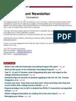 Fall 2012 University Newsletter