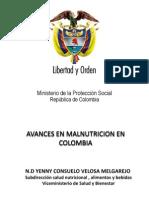 Avances Malnutricion Colombia