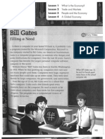 Pearson Social Studies Textbook Pages Honoring Bill Gates