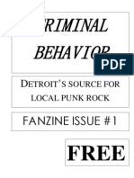 Criminal Behavior Fanzine, Issue 1