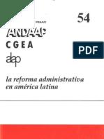 07 La Reforma Administrativa en Amrica Latina