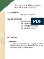 DIVIDENDS VS STOCK REPURCAHSE – THE STOCK PRICE