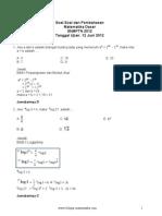 Soal-Soal Dan Pembahasan Matematika Dasar SNMPTN 2012