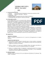 PLAN DE PASTORAL EDUCATIVA PARROQUIA SAN ANDR+ëS 2012 VALIDO