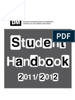NTU Singapore ADM Student Handbook