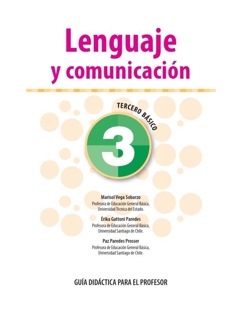 3º Lenguaje y Comunicacion Guia del Profesor