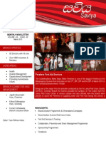 The Sri Lanka Red Cross Society - Colombo Branch Monthly News Letter for the Month of  March