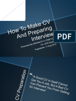 04. How to Make CV and Preparing Interview