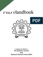 Phd Handbook