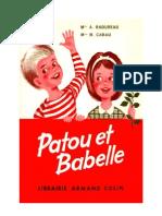 Langue Française Lecture CE1 Courante Patou et Babette Radureau Cabau 1960