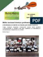 Mídia nacional destaca professora Paraíbana