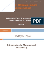 Introduction to Mgt Acc.