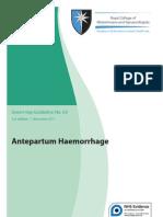 Antepartum Haemorrhage
