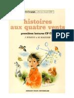 Langue Française Lecture Courante CP CE1 Histoire aux quatre vents 1979