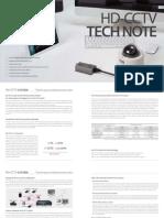 Hd-cctv Tech Note