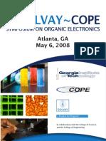 2nd Solvay~Cope Symposium on Organic Electronics Atlanta, Ga May