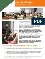 WeCreate Coaching Certification course Info, June Helsinki