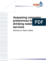 Assessing Consumer Preferences for Drinking Water Services