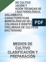 MEDIOS DE CULTIVO CLASIFICACIÓN