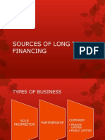 Sources of Long Term Financing