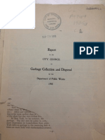 1905 Report to the City Council on Garbage Collection and Disposal