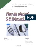 Plan de Afaceri Restaurant Sc Orizont Srl