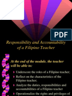 Responsibility and Accountability of Teachers
