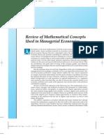 Mathematics Used in Managerial Economics