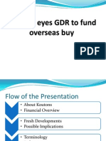 Koutons Eyes GDR to Fund Overseas Buy