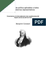 0003 Constant - Principios de Politica Aplicables a Todos Los