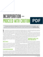Incorporated Legal Practice & Directors' Duties