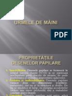 URMELE DE MÂINI