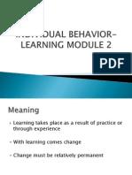 Module 2 Learning
