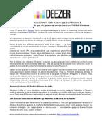 Deezer annuncia il lancio della nuova app per Windows 8