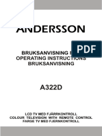 ANDERSSON TV A322D