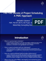 5 Secrets of Project Scheduling - A PMO Approach
