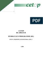 2004,CETOP,Hydraulics Programme (H1) - Seminar